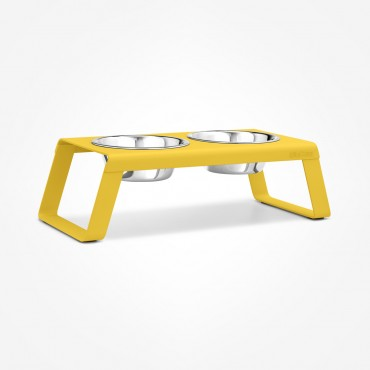 Dog feeder MiaCara Desco alu jaune