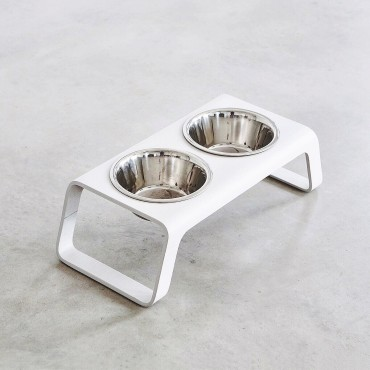 Dog feeder MiaCara Desco bois blanc