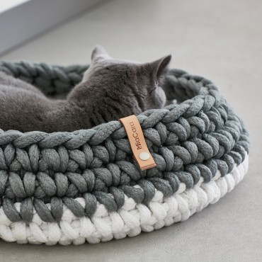 Panier pour chat Miacara Nido ardoise