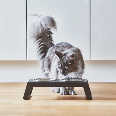 Cat feeder MiaCara Desco alu noir