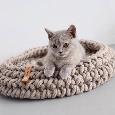 Panier pour chat Miacara Nido taupe
