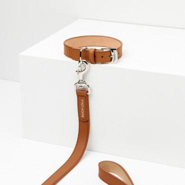 Collier cuir Roch Lola Camel